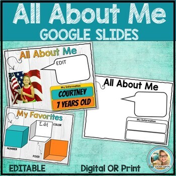 All About Me Google Slides | Star Student