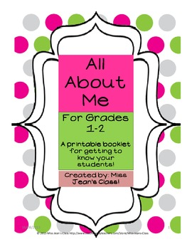 All About Me - Grades 1-2