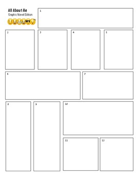 All About Me Graphic Novel Activity