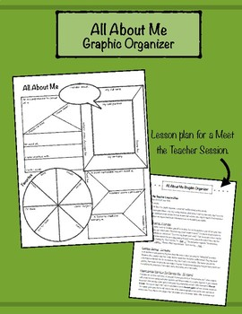 All About Me Graphic Organizer: intro activity upper eleme