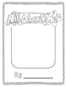 All About Me Graphic Orgaziners and Blank Book