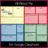 All About Me (Great for Google Classroom)