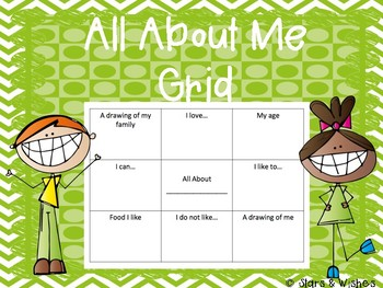 All About Me Grid