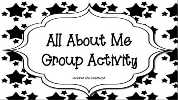All About Me Group Activity
