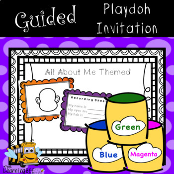All About Me Guided Play Dough Center