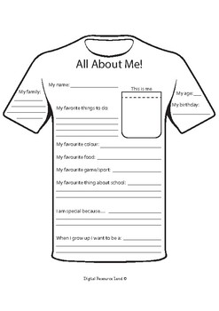 All About Me - Hanging Banner/Shirt - 2 Versions