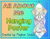 Editable All About Me Hanging Poster