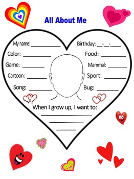 All About Me (Heart Design)