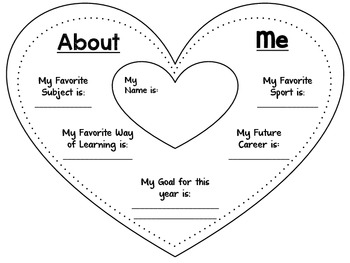 All About Me Heart Banner