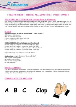 All About Me - Home (Dining Room & Bathroom) : Letter C : Clap - PN (1 yr old)