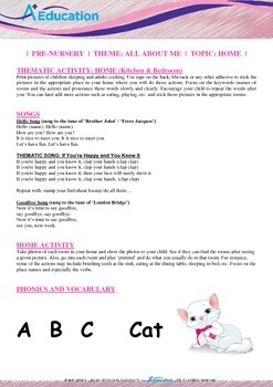 All About Me - Home (Kitchen & Bedroom) : Letter C : Cat - PN (1 yr old)