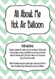 All About Me Hot Air Balloon