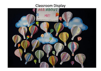 All About Me Hot Air Balloons