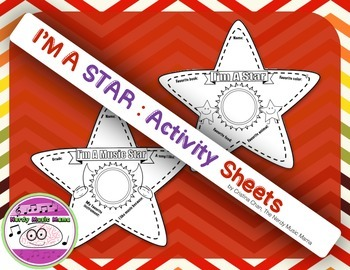 All About Me I'm a Star Activity Sheets Music