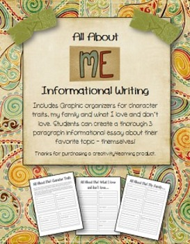 All About Me Informational Writing