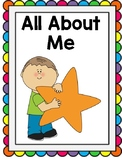 All About Me Interactive Adapted Book