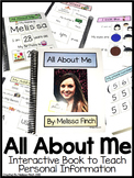 All About Me- Interactive Book (EDITABLE)