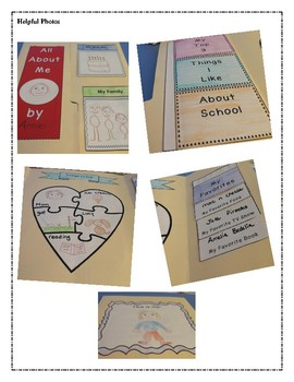 All About Me Interactive Lap Book
