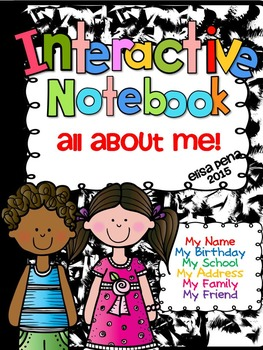 All About Me Interactive Notebook with Editable Labels