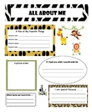 All About Me Jungle Animal Poster (back to school)