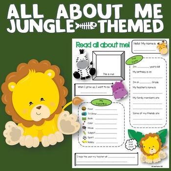 All About Me Jungle Theme
