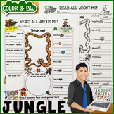 Jungle Themed All About Me Poster