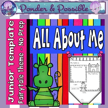 All About Me Junior Bunting -  Fairytale Theme - Back to School Activity