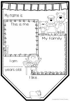 All About Me Junior Bunting -  Goldilocks Theme - Back to School Activity