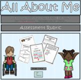 All About Me - Just Me - Assessment Rubric