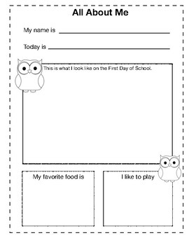 All About Me K-1 Owl Theme