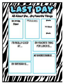 All About Me - Kindergarten - Fifth Grade