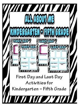 All About Me - Kindergarten - Fifth Grade
