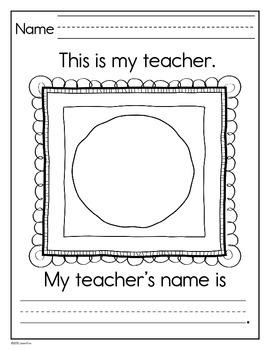 All About Me~ Kindergarten & First Grade Writing Activities