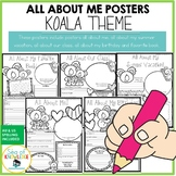 All About Me Koala Themed Posters