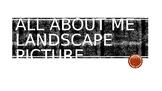 All About Me Landscape Activity