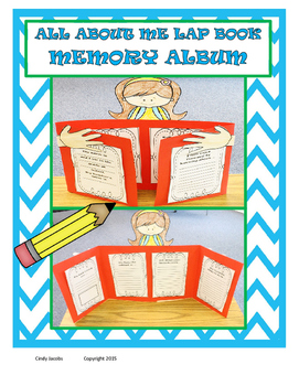 All About Me Lap Book Memory Album