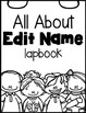 All About Me Lapbook {Editable}