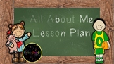 All About Me Lesson Plan (Creative Curriculum) EDITABLE