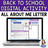 All About Me: Letter to My Teacher Digital Writing Resource