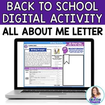 All About Me: Letter to My Teacher Google Drive Digital Resource