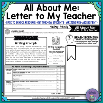 letter writing activity high school pdf