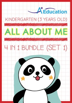 4-IN-1 BUNDLE - All About Me (Set 1) - Kindergarten, K1 (3 years old)