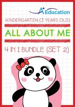 4-IN-1 BUNDLE - All About Me (Set 2) - Kindergarten, K1 (3 years old)