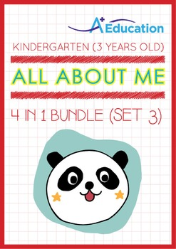 4-IN-1 BUNDLE- All About Me (Set 3) - Kindergarten, K1 (3 years old)