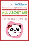 4-IN-1 BUNDLE - All About Me (Set 4) - Kindergarten, K1 (3 years old)