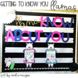 All About Me Llama Bulletin Board and Writing Craftivity