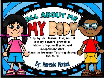 All About Me-MY BODY: Literacy & Math centers, printables, lesson plans,