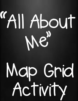 All About Me Map Grid Social Studies Activity