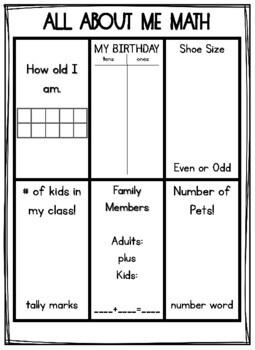 All About Me Math 2nd Grade By Morgan Grassi Teachers Pay Teachers