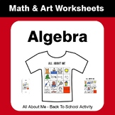 All About Me Math: Algebra {Back To School}
